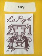 4029 - LS RGT 21  1987 Bâle Suisse - Militaire