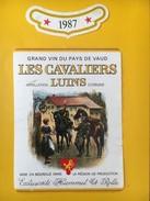 4031 - Les Cavaliers Luins 1987 Suisse - Militaire