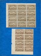 ARMENIE -1921/22 -N++ -Bloc De 8 Et 9 -en B De F- Dentelé Et N.Dent Du 25000 R.(brun) Cat Yvert N°118  Tres Bon état (3)