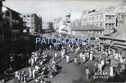 71699 ASIA INDIA BOMBAY MUMBAI VIEW PARTIAL & BAZAR POSTAL POSTCARD - Inde