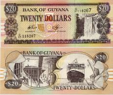GUYANA       20 Dollars       P-30e       ND (c. 2010)       UNC - Guyana