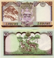 NEPAL       10 Rupees       P-70        2012 / BS2069      UNC  [ Sign. 19 ] - Nepal