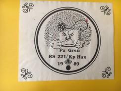 4034 - PZ Gren RS 221/Kp Hux 1989  Suisse Ecole De Recrue Grenadiers De Chars - Militaire