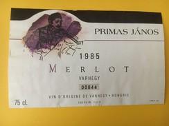 4045 - Primas Janos Merlot 1985 Hongrie - Musique