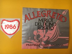 4047 - Allegreto Merlot Del Ticino 1986 Suisse - Musique