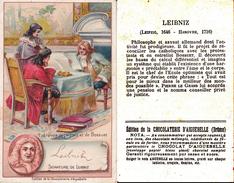 CHROMOS Chocolat D' AIGUEBELLE (Drôme).  Etrevue De Leibniz Et De Bossuet. ...T814 - Aiguebelle