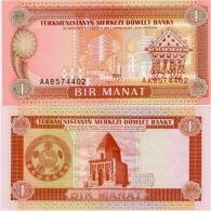 TURKMENISTAN       1 Manat       P-1       ND (1993)       UNC - Turkmenistan