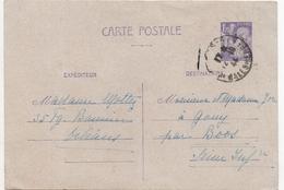 CARTE POSTALE 1F20 VIOLET 1944 - Entiers Postaux