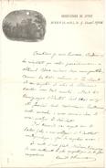 CAMILLE FLAMARION SUR LETTRE DE L'OBSERVATOIRE DE JUVISY - Autographes