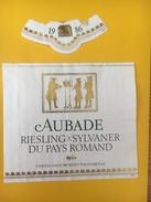 4058 -  Aubade Riesling Sylvaner Du Pays Romand 1986 Suisse - Musique