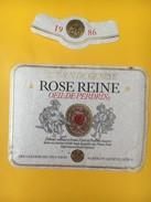 4059 -  Rose Reine Oeil De Perdrix 1986 Côteaux De Genève Suisse - Musique