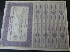 Société Dieppoise De Chalutage Et De Consignation Action De 100 F 1927 Glin Offranville - Navigation