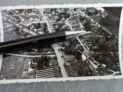 61 FLERS PHOTO AERIENNE BASSE ALTITUDE JUIN 1935 RUES BANQUE CHARLES MOUSSET GEVELOT THEATRE RICHA LENOIR BOULE DELAUNAY - Lugares