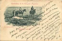 AMERIQUE - 010517 - ARGENTINE - Costumbres De La Campana Argentina - Carneando Una Res - Argentina