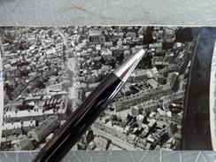 61 FLERS PHOTO AERIENNE BASSE ALTITUDE JUIN 1935 GRAND BAZARD PLACE CENTRALE RUE GAMBETTA DE LA GARE HALLE AU BLE THEATR - Lugares