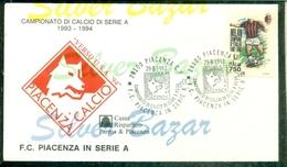 PIACENZA CALCIO-PIACENZA IN SERIE A-MARCOFILIA-BUSTA - Football