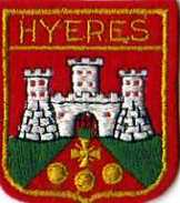 Ecusson Tissu Feutrine Brodee HYERES  Format 6,5x5cm - Scudetti In Tela