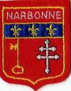 Ecusson Tissu Feutrine Brodee NARBONNE  Format 6,5x5,2cm, Clef - Ecussons Tissu