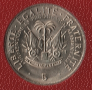 HAITI 5 CENTIMES 1975 FAO KM# 119  (Président F. Duvalier) - Haiti