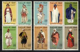 MAROCCO - 1968 - FOLCLORE- SERIE COSTUMI POPOLARI - NUOVI MNH - Morocco (1956-...)