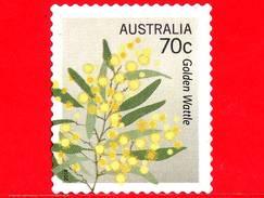 AUSTRALIA  - Usato - 2014 - Fiori - Flowers - Emblemi Floreali - Golden Wattle - 70 - 2010-... Elizabeth II