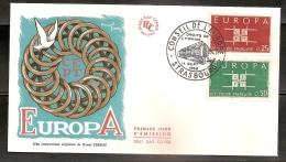 FRANCE ENVELOPPE 1ER JOUR - CONSEIL DE L EUROPE - 14 SEPT 1963 - FDC
