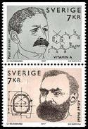 Svezia / Sweden 1997: Premi Nobel (congiunta Svizzera) / Nobel Prize Winners (joint Issue With Switzerland) ** - Emissioni Congiunte