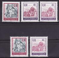 YUGOSLAVIA 1994. Definitive, MNH (**), Mi 2686 I A, C; 2687 I A+II A, C - Ungebraucht