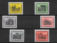 Oiseau - Allemagne De L'est N°413 à 418 1959 ** - Non Classés