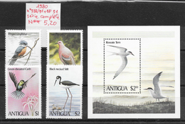 Oiseau Martin-pêcheur Pigeon- Antigua N°588 à 591, BF N°51 1980 ** - Non Classés