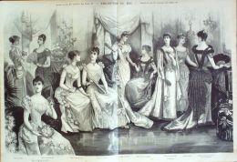 GRAVURE De MODE ANCIENNE-1879-NB94-LA MODE ILLUSTREE-37X52cm - Engravings