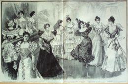 GRAVURE De MODE ANCIENNE-1881-NB59-LA MODE ILLUSTREE-37X52cm - Engravings