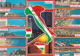 Cartolina - Postcard  - RIMINI - SALUTI DALL'ADRIATICO - Rimini