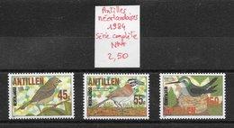 Oiseau - Antilles Néerlandaises N°723 à 725 1984 ** - Oiseaux