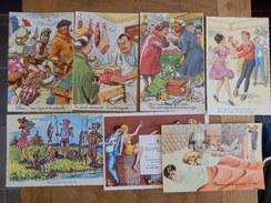 (9)   Lot De 7 Cartes Humoristiques Signées - Illustrateurs & Photographes