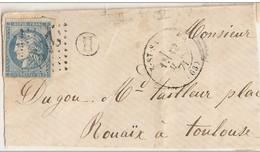 RARE Boîte Rurale H Obli Luz-St-Sauveur 2141 Sur 45C Un Pli - 1870 Ausgabe Bordeaux