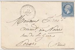 Obli CàD Perlé 4406 Le Cendre Indice 9 Sur N°22 TBE - 1862 Napoleon III