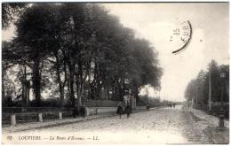 27 LOUVIERS - La Route D'Evreux   (Recto/Verso) - Louviers
