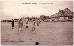 14 LION-sur-MER - Le Croquet Sur La Plage     (Recto/Verso) - Autres Communes