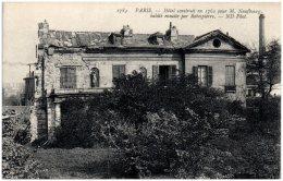 75 PARIS - Hotel Construit En 1762 Pour M. Neufbourg, Habité Ensuite Par Robespierre   (Recto/Verso) - Altri