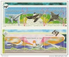 MVV-BK1-291 MINT PF/MNH ¤ COMORES 1999 KOMPL. SET ¤ AIRPLANES DU MONDE - CONCORDE - LOCKHEED - AIR FRANCE - Flugzeuge
