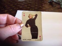 Petite  Carte à Jouer  1960-beaute-feminine-d-autrefois Femme Pin Ups  Par  SAM LEVIN En L état Michèle Morgan - Pin-Ups