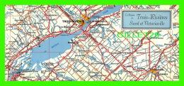 MAPS - CARTES GÉOGRAPHIQUES - LA RÉGION DE TROIS-RIVIÈRES, SOREL ET VICTORIAVILLE - DIMENSION  10 X 23 Cm - CARSONA, 198 - Cartes Géographiques