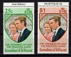 St Vincent Grenadines, 1973, SG 1-2, Complete Set Of 2, MNH - St.Vincent (...-1979)