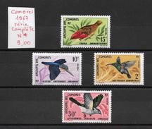 Oiseau - Comores N°41 à 44 1967 *
