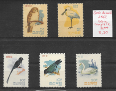 Oiseau Cygne - Corée Du Nord N°388 à 392 1962 ** - Non Classés