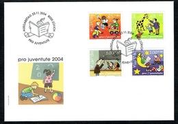FDC PRO/J OBLITERE .23.11.2004. C/.S.B.K. Nr:J373A/J376A. Y&TELLIER Nr:1820/1823. MICHEL Nr:1902x/1905x. - Pro Juventute