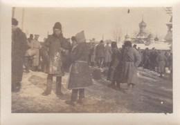 14-18 RUSSIE Automitrailleuses Belges  Corps Expéditionnaire Photo Marché De Kieff  Février 1917 - 1914-18