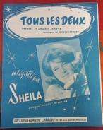 """Partition SHEILA """"Tous Les Deux"""" Paroles Jacques PLANTE Musique Claude CARRERE - Partitions Musicales Anciennes"""