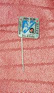 JUDO CLUB JADRANSKA ŽELJEZARA SPLIT CROATIA, ORIGINAL VINTAGE PIN BADGE - Judo
